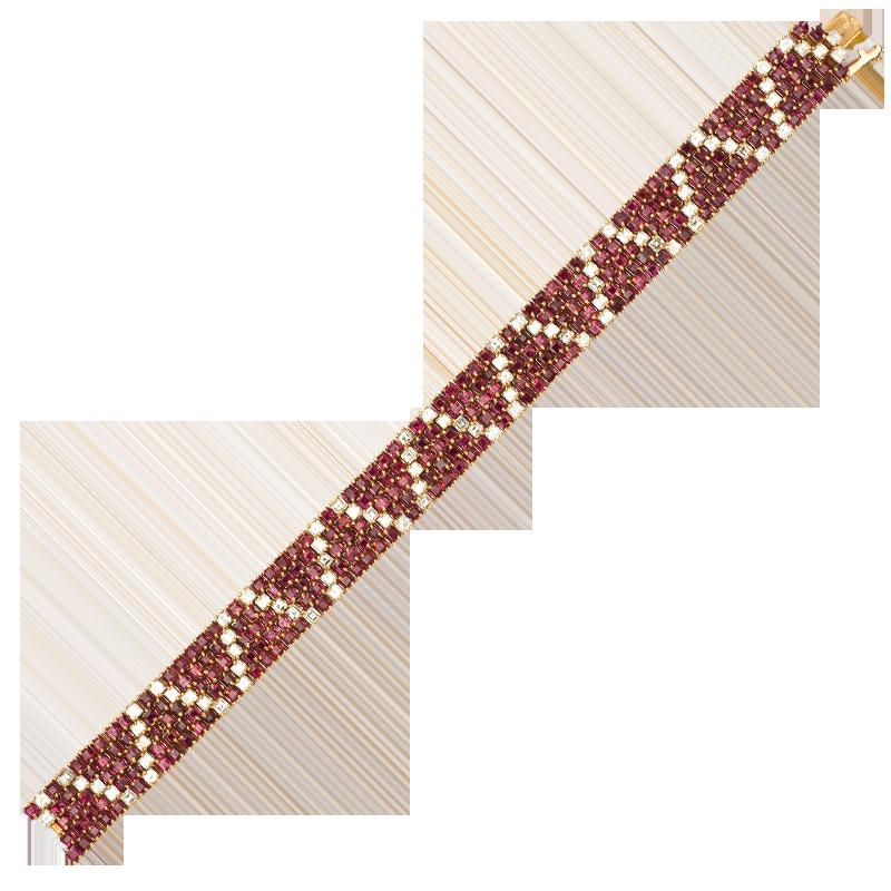FoFo, die Juwelenbörse -  Armband von Van Cleef and Arpels in Gelbgold, Rubine ca. 22 ct.