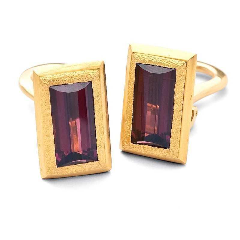 FoFo, die Juwelenbörse -  Clipstecker in Gelbgold gearbeitet, Turmaline ca. 8,00 ct.