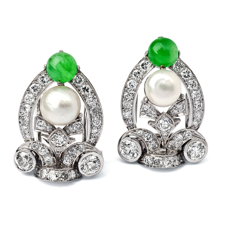 FoFo, die Juwelenbörse -  Ohrclips | Gelbgold und Platin | Diamanten ca. 2.75 ct.