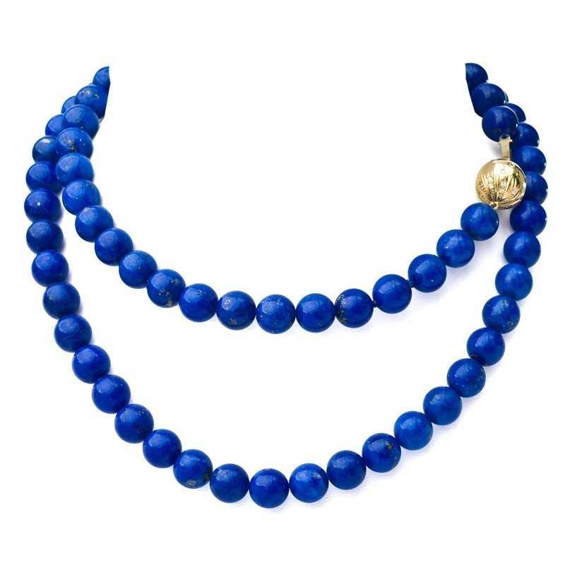 FoFo, die Juwelenbörse -  Lapislazuli-Collier | 14 Karat Gelbgold | Brillanten