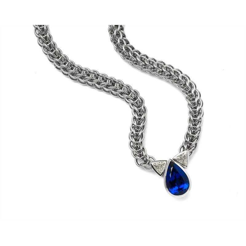 FoFo, die Juwelenbörse -  WEMPE-Collier | 18 Karat Weißgold | Tansanit ca. 20.00 ct.