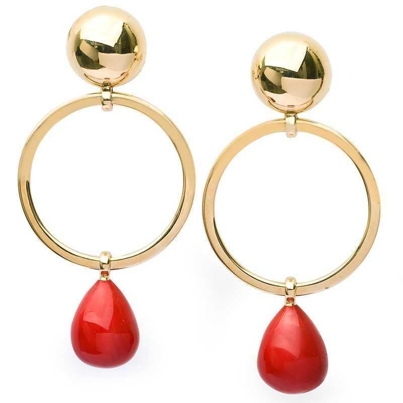 FoFo, die Juwelenbörse -  Ohrhänger |18 Karat Gelbgold | Länge und Breite: 6,5 x 3 cm