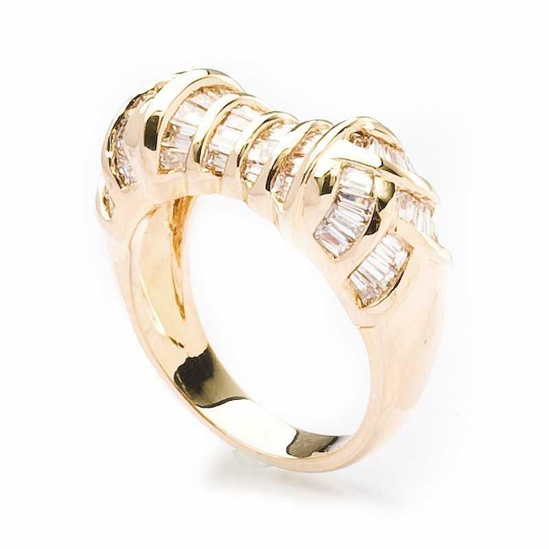 FoFo, die Juwelenbörse -  Diamantring | 18 Karat Gelbgold | Diamanten ca. 1.17 ct.