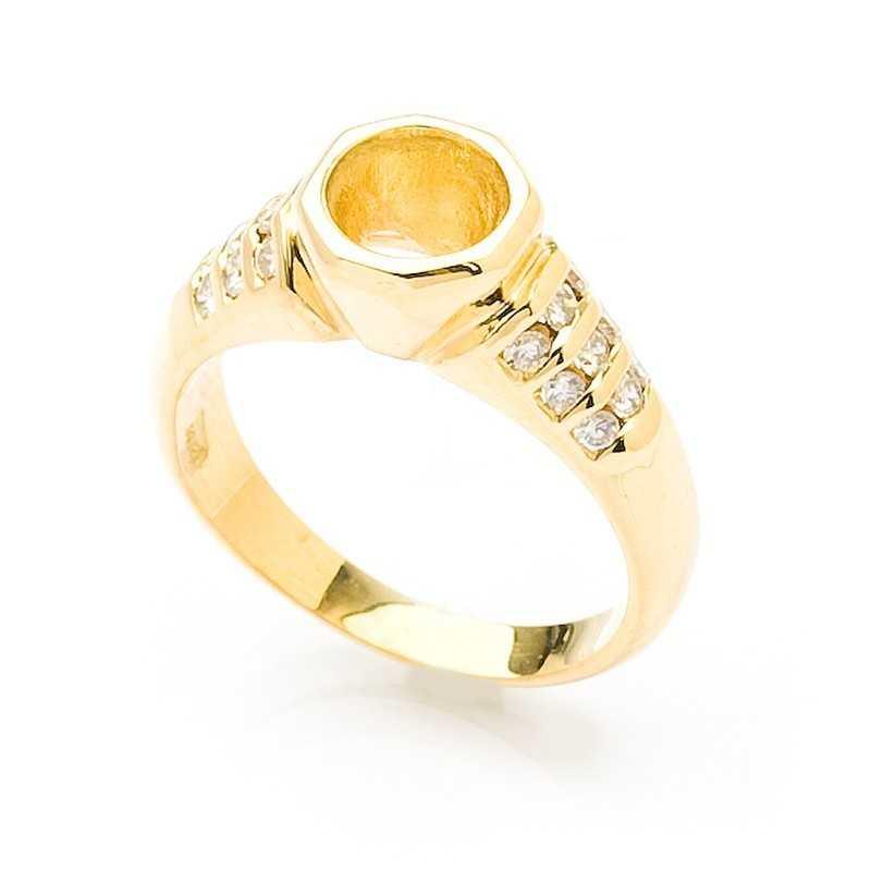 FoFo, die Juwelenbörse -  Solitärring | 18 Karat Gelbgold | Brillanten ca. 0.16 ct.