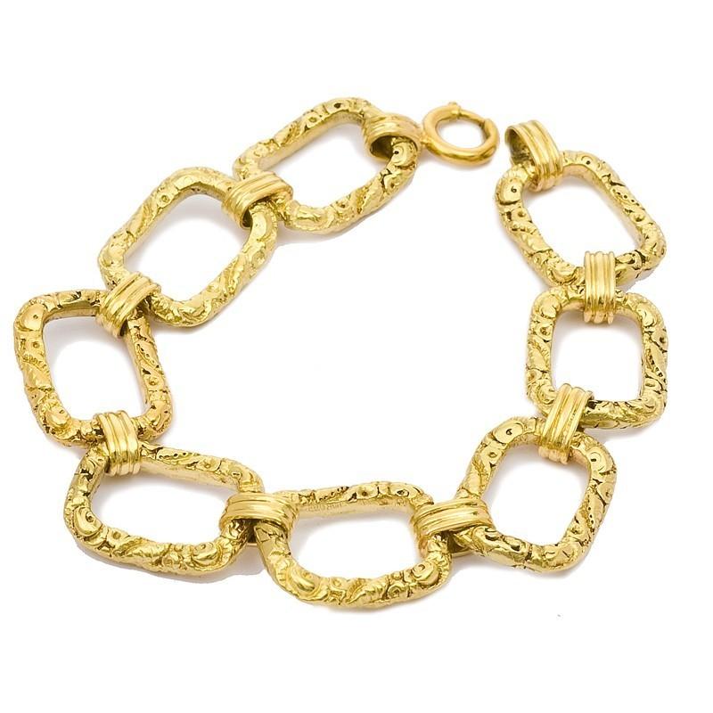 FoFo, die Juwelenbörse -  Armband mit floraler Verzierung in 750/°°° Gelbgold