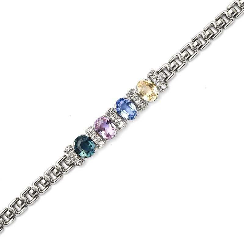 FoFo, die Juwelenbörse -  Armband | 18 Karat Weißgold | Saphire ca. 13.98 ct.