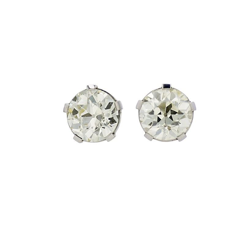 FoFo, die Juwelenbörse -  Solitär-Ohrstecker | 950 Platin | Brillant 3.54 ct. und 3.59 ct.