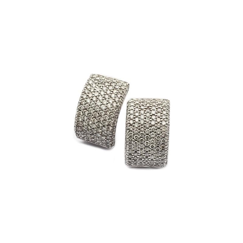 FoFo, die Juwelenbörse -  Clipstecker in Weißgold, kleine Brillanten ca. 3,2 ct.