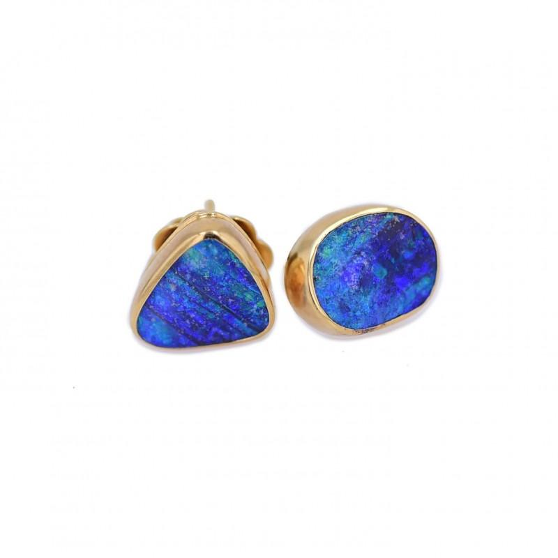 FoFo, die Juwelenbörse -  Ohrstecker in Gelbgold, zwei Opale