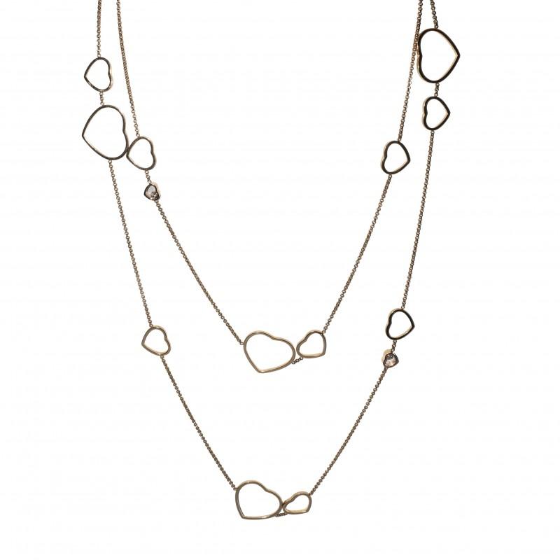 """FoFo, die Juwelenbörse -  Chopard-Collier """"Happy Diamonds""""  18 Karat Rotgold  Herz-Brillanten ca. 0.15 ct."""