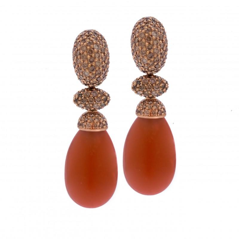 FoFo, die Juwelenbörse -  Ohrhänger   18 Karat Roségold   Diamanten ca. 7.5 ct.
