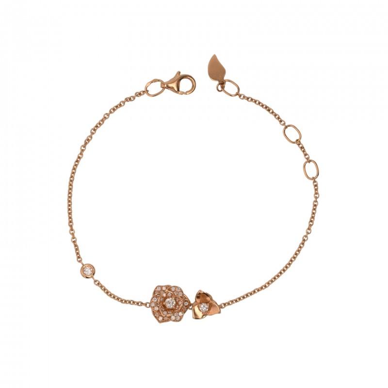 FoFo, die Juwelenbörse -  Piaget Blumen-Armband   18 Karat Rotgold   Diamanten ca. 0.2 ct.