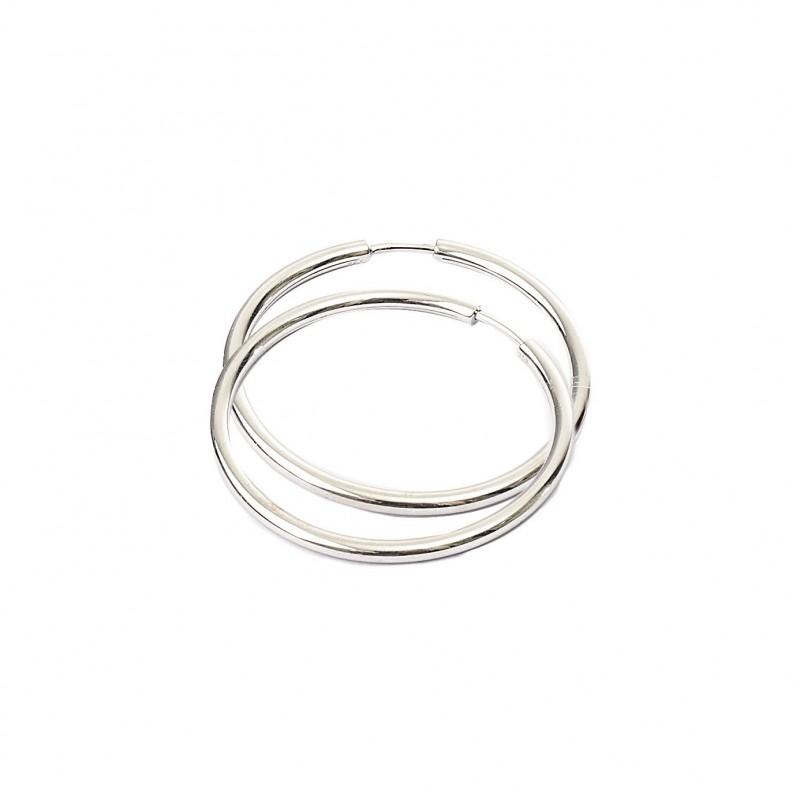 FoFo, die Juwelenbörse -  Creolen | 18 Karat Weißgold | 40mm x 2,50 mm