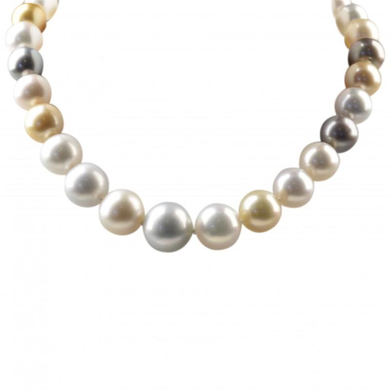 FoFo, die Juwelenbörse -  Multicolor Südseezuchtperlenkette   Länge: ca. 41,5 cm