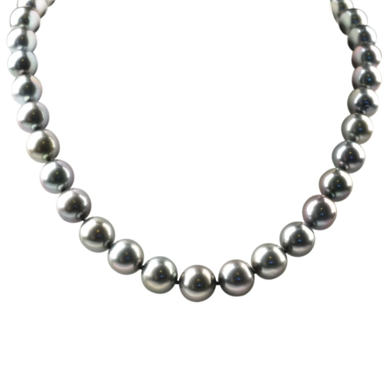 FoFo, die Juwelenbörse -  Tahiti-Südseezuchtperlenkette   37 Perlen   18 Karat Weißgoldkugelschloss