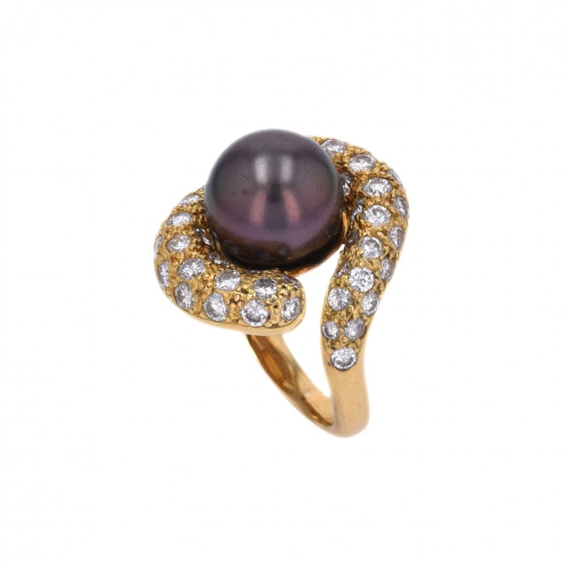 FoFo, die Juwelenbörse -  Ring von Fochtmann   18 Karat Gelbgold   Tahitizuchtperle