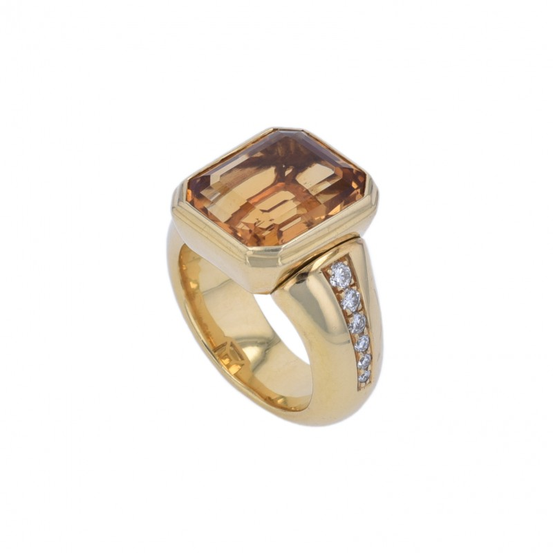 FoFo, die Juwelenbörse -  Fochtmann-Ring | 18 Karat Gelbgold | Citrin ca. 9 ct.