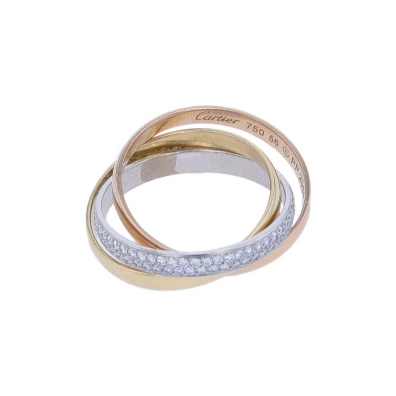 """FoFo, die Juwelenbörse -  """"Trinity""""- Cartier - Ring   18 Karat Gelb-, Rot- und Weißgold   Brillanten ca. 0.45 ct."""