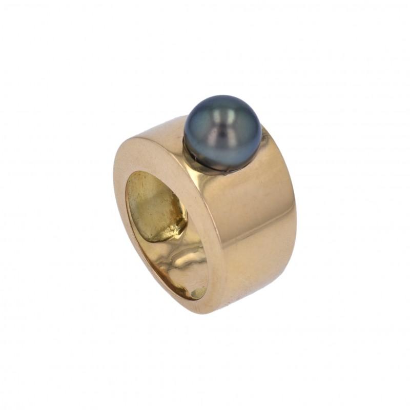 FoFo, die Juwelenbörse -  Ring im Verlauf | 18 Karat Gelbgold | Tahitizuchtperle
