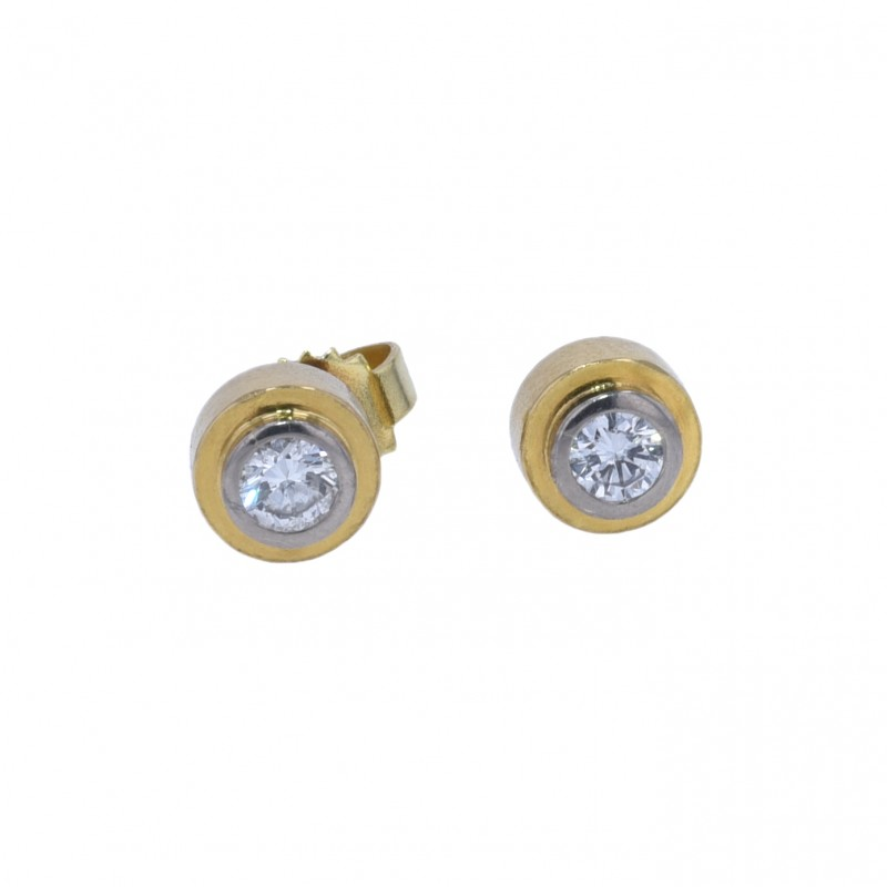FoFo, die Juwelenbörse -  Ohrstecker | 18 Karat Gelb- und Weißgold | Diamanten ca. 0.3 ct.