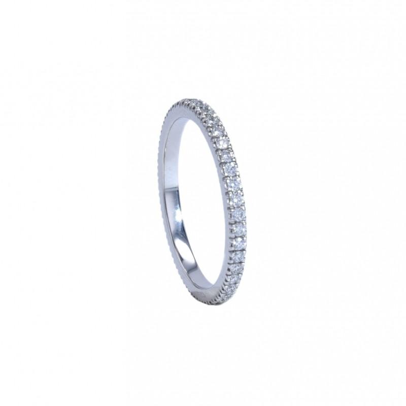 FoFo, die Juwelenbörse -  Memoirering | 18 Karat Weißgold | Brillanten ca. 0,38 ct.