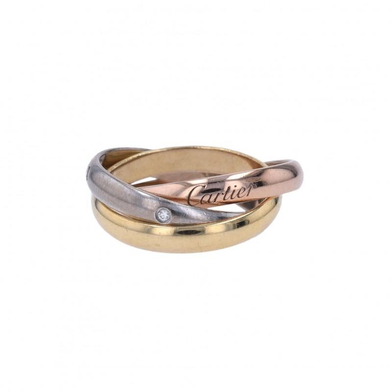 "FoFo, die Juwelenbörse -  Cartier-Ring ""Trinity"" |18 Karat Gold |ca. 0.04 ct."