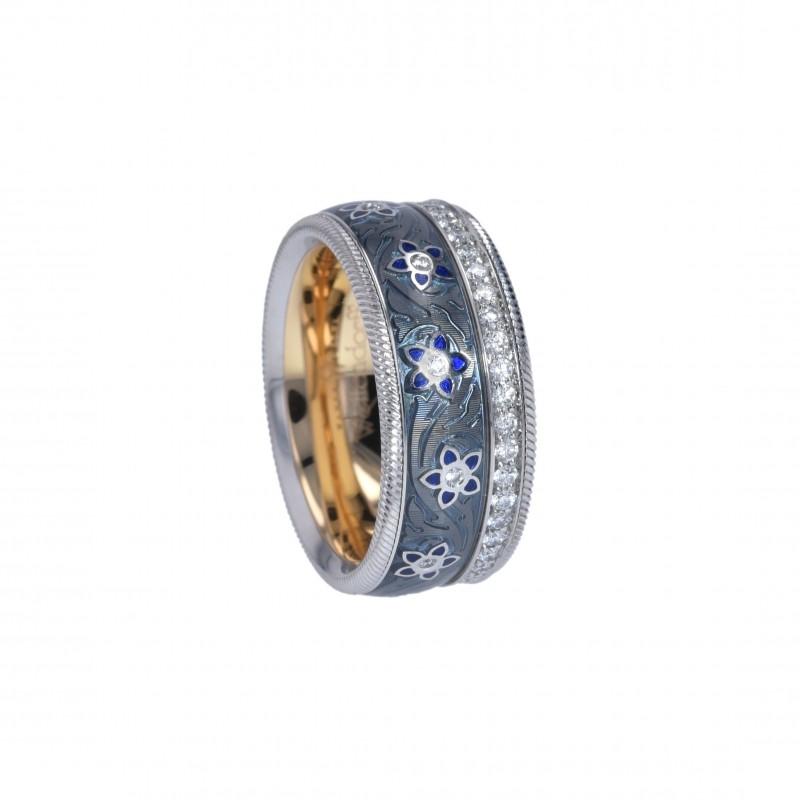 """FoFo, die Juwelenbörse -  Wellendorff-Ring """"Blueberry""""   18 Karat Weiß- und Gelbgold  Diamanten ca. 0.55 ct."""
