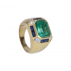 FoFo, München, Juwelenbörse, Schmuck, Ring in GG, Smaragd aus...
