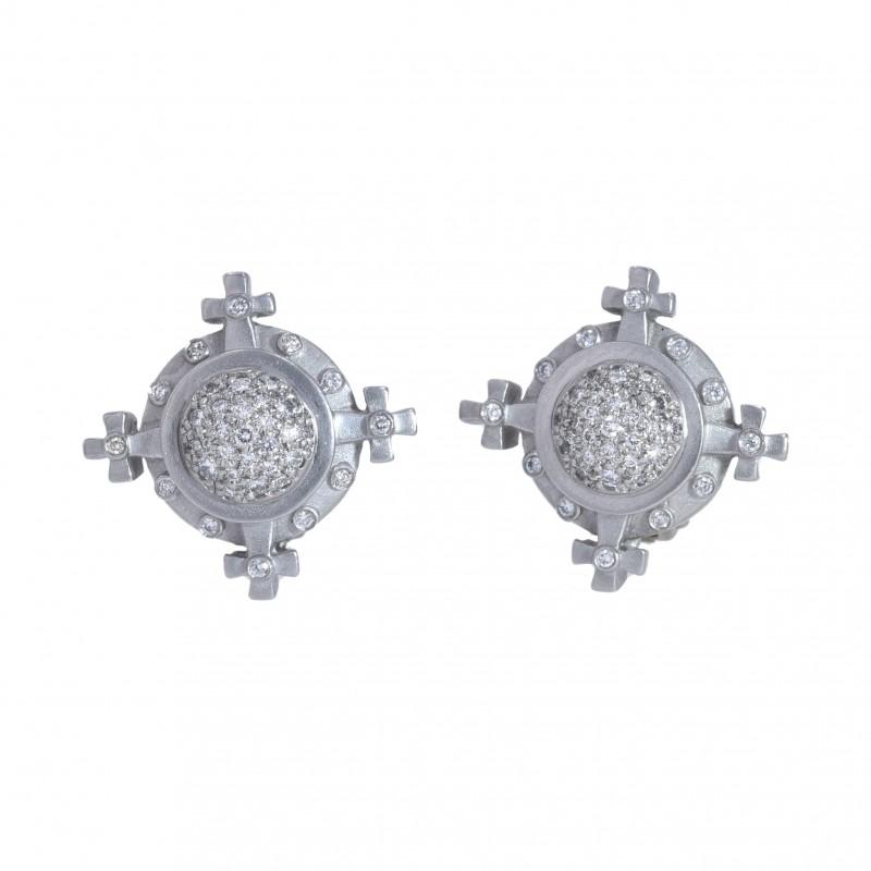 FoFo, die Juwelenbörse -  Clipstecker von Kieselstein-Cord   950 Platin  Diamanten ca. 0.4 ct.