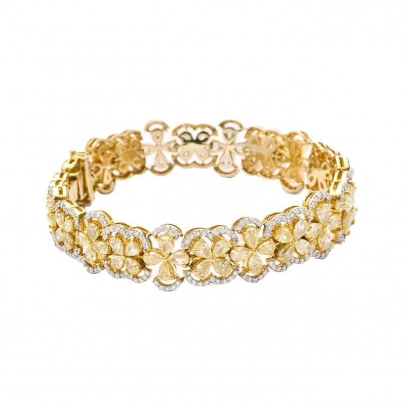 FoFo, die Juwelenbörse -  Armband | 18 Karat Gelbgold |Diamanttropfen ca. 14.10 ct. |Diamanten ca. 1,92 ct.