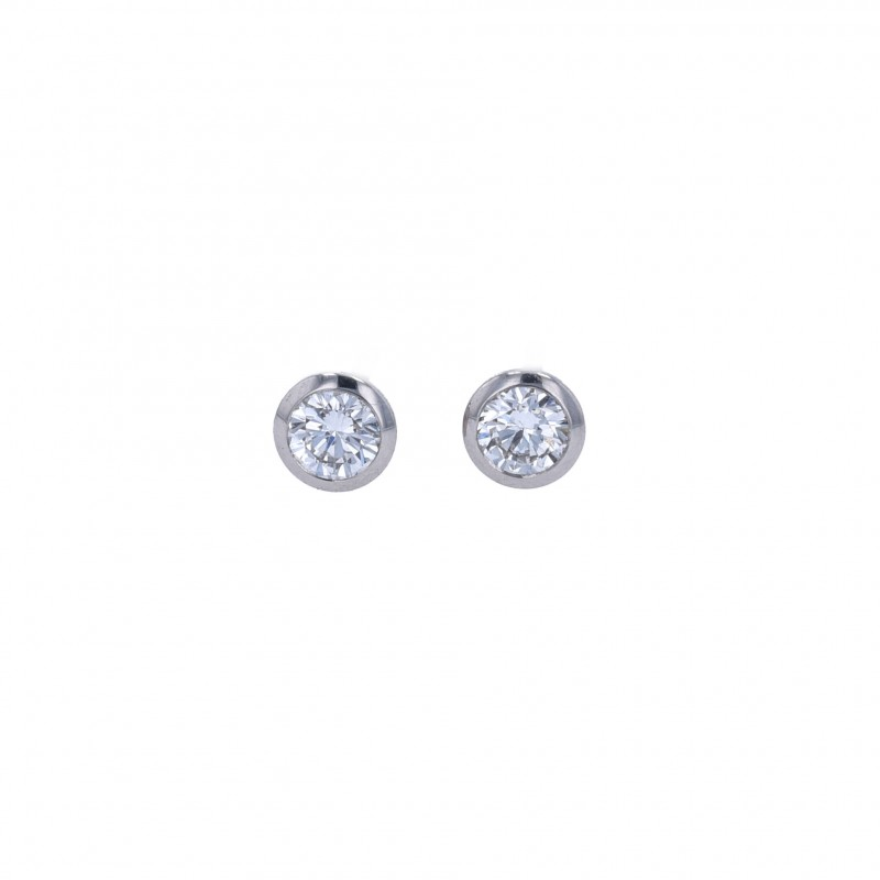 FoFo, die Juwelenbörse -  Ohrstecker |950 Platin |Brillanten 0.37 ct. und 0.37 ct.|HRD Expertise