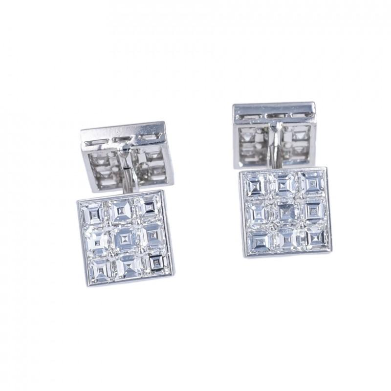 FoFo, die Juwelenbörse -  Cartier-Manschettenknöpfe   950 Platin  Diamanten ca. 3.50 ct.