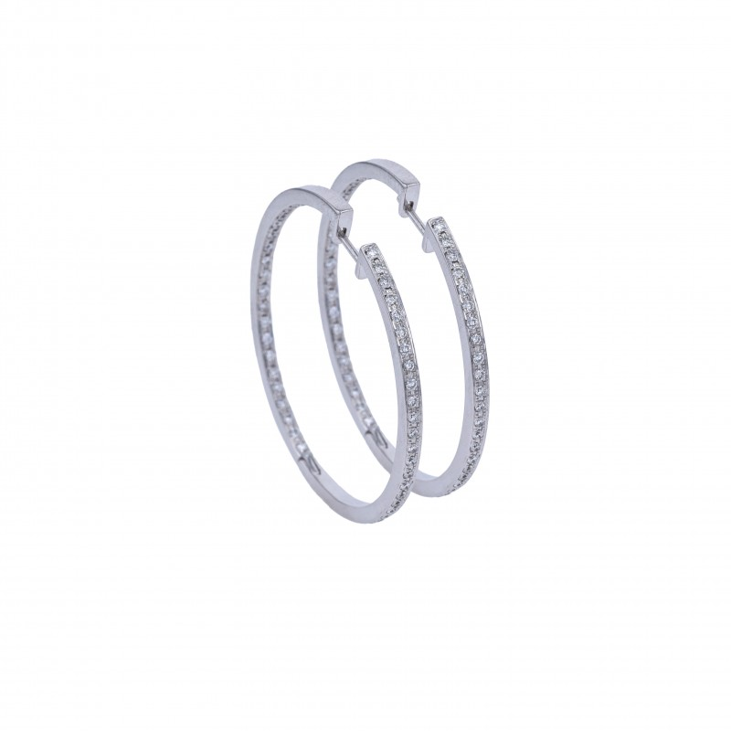 FoFo, die Juwelenbörse -  Creolen von CADA | 18 Karat Weißgold |Brillanten ca. 1.07 ct.