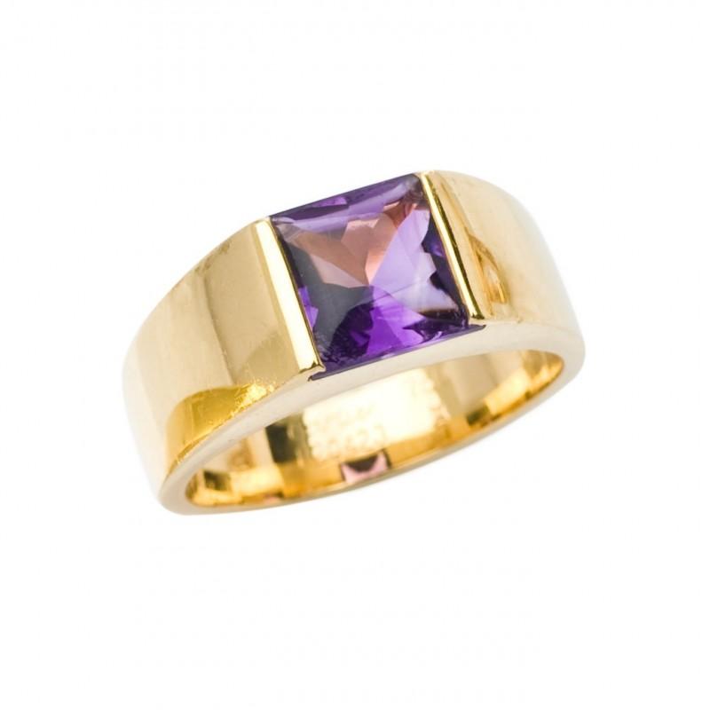 FoFo, die Juwelenbörse -  Tank Ring von Cartier   18 Karat Gelbgold   Amethyst