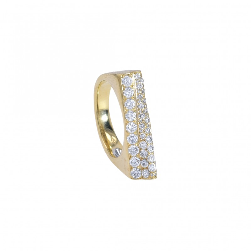 FoFo, die Juwelenbörse -  Ring | 18 Karat Gelbgold | Diamanten ca. 0.6 ct.