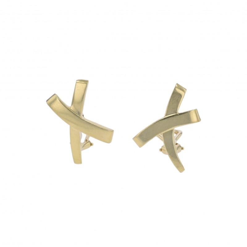 """FoFo, die Juwelenbörse -  Clipstecker von Tiffany and Co. """"X""""   18 Karat Gelbgold"""