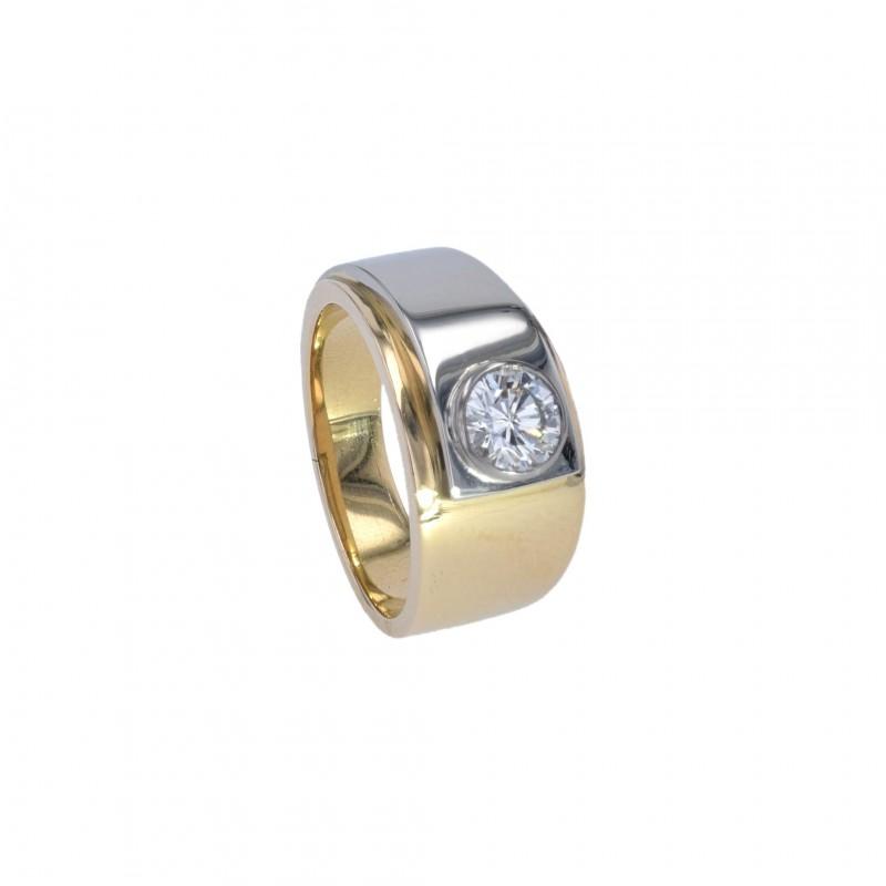 FoFo, die Juwelenbörse -  Ring | 18 Karat Gelb- und Weißgold | Diamant ca. 0.9 ct.